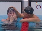 Missy Franklin (USA) sets a new world record and wins her third gold medal of the London Olympics in the 200m backstroke. Anastasia Zueva (RUS) takes silver and Elizabeth Beisel (USA) takes bronze.