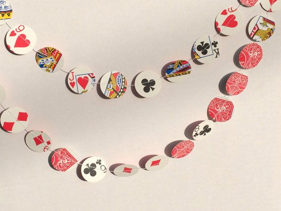 Playing Cards Paper Garland 8.5ft Vegas Decoration by SisterGifts5, $14.99