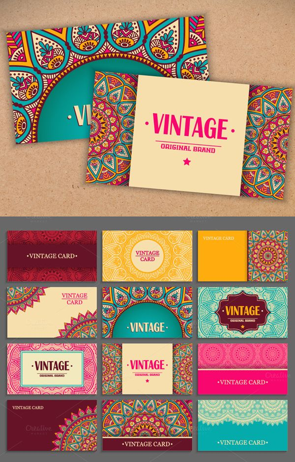 Business Card in Ethnic Design