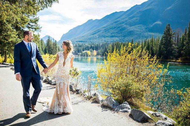 Fairmont Banff Springs Wedding // Korry & Garrett via Rocky Mountain Bride // Canada wedding // @kimpayantphotog Willow Flower Co. Something New Wedding @watterswtoo @tommyhilfiger @banfftown/weddings-in-banff