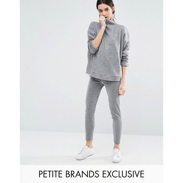 One Day Petite Glittery Legging (515 THB) ❤ liked on Polyvore featuring pants, leggings, petite, silver, high waisted stretch pants, stretch pants, high-waisted leggings, high waisted leggings and petite leggings