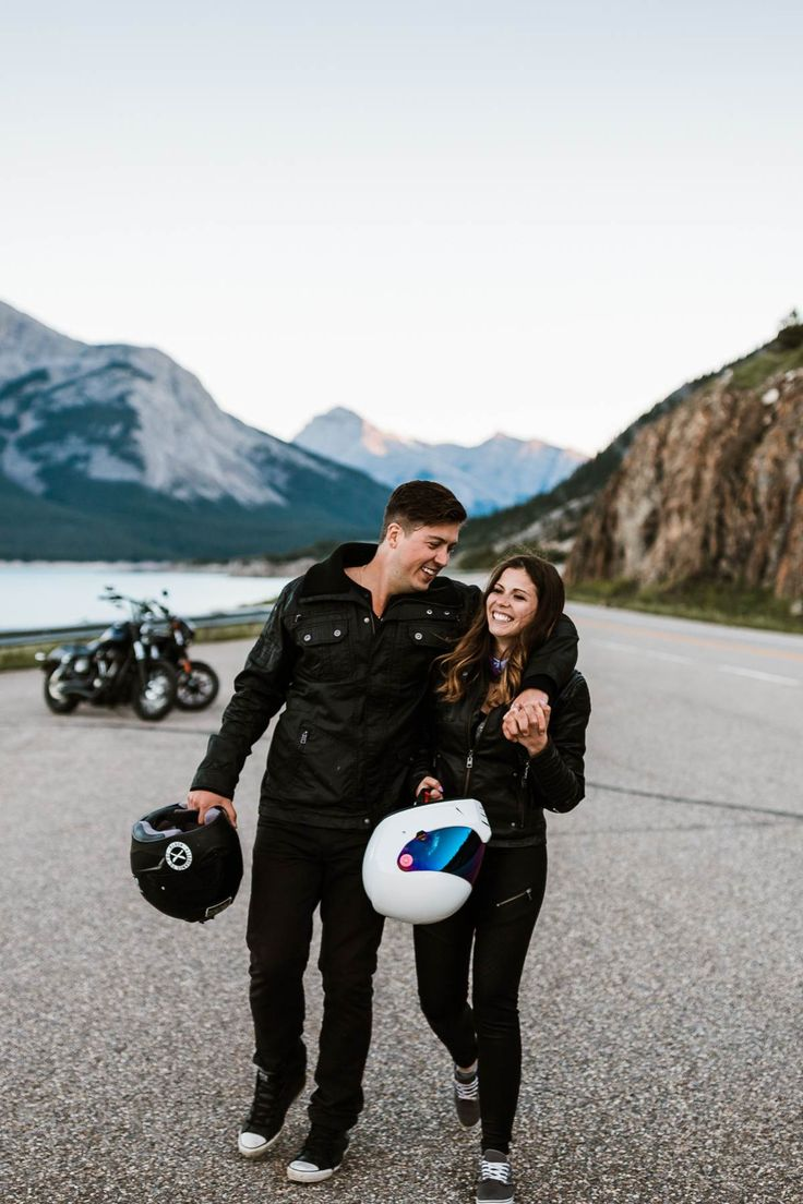 Nordegg Wedding Photographers Motorcycle Engagement