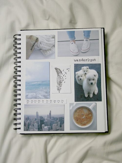 Cute scrapbook notebook thing