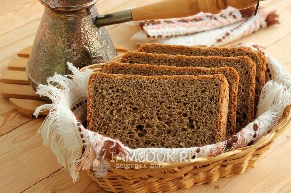 Фото пшенично-ржаного хлеба с кофе