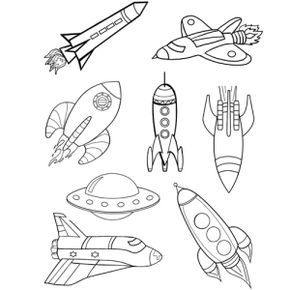 Exploring God's Word Rocket Coloring Page