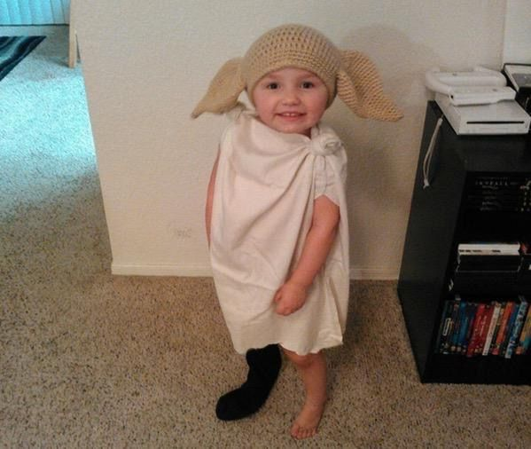 true Harry Potter fandom dedication is dressing up your toddler as Dobby - me as a parent