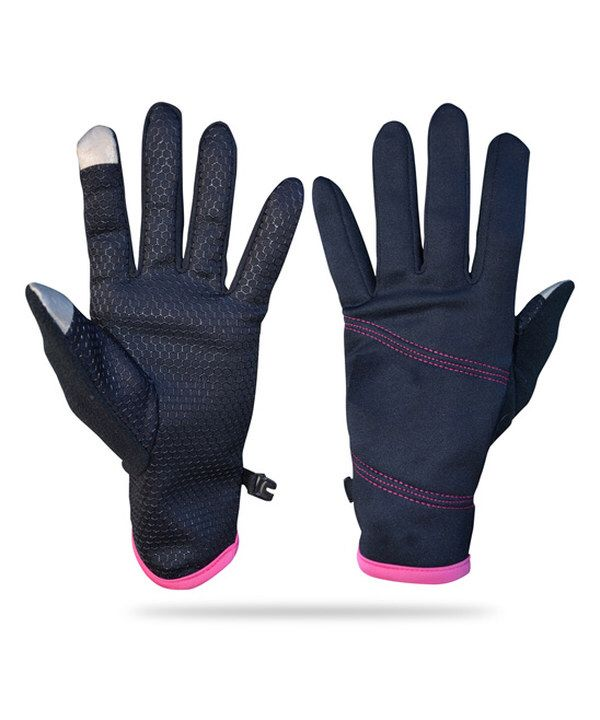 Look at this Black & Pink Lightweight Glove & Hand Warmer Set on #zulily today!