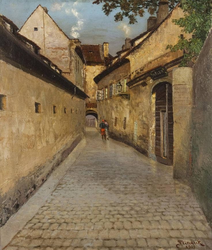 Szene aus dem Alten Prag / Scene from the Old Prague, 1909, Jan Minařík. Czech (1862 - 1937)