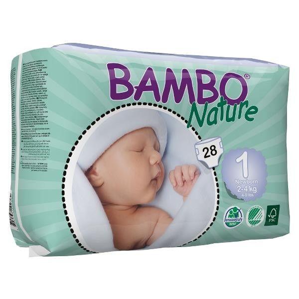 Pañales ecológicos para bebés recién nacidos de 2-4 kg.    Los pañales están fabricados con materiales de alta calidad y representan la nueva generación de pañales desechables respetuosos con el medio ambiente.    El pañal es muy suave debido al textil de su capa trasera y superior, y se siente extra suave en la piel del niño.