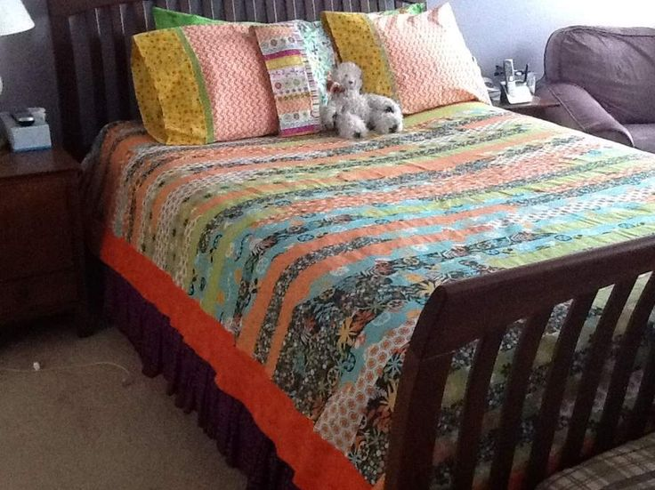 194 best Jelly roll & strip quilts images on Pinterest | Book ... : size of jelly roll race quilt - Adamdwight.com