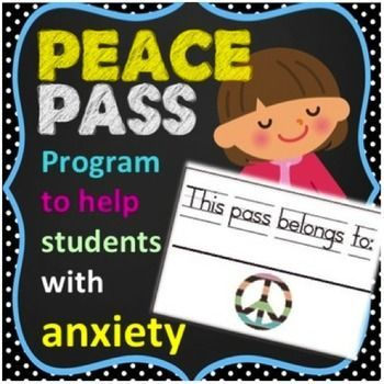 """The """"Peace Pass Program is a Classroom Anxiety ManagementSystem for counselors or teachers to use with students suffering with anxiety or panic.  Give your students the peace of mind in knowing that if they begin to experience symptoms of panic or anxiety, that they will be free to go to their designated stress free zone simply by turning in a """"peace pass"""" to their teacher.Includes the following:  -printable """"peace passes"""" -printable parent and teacher tip sheet -printable """"peace plan""""…"""