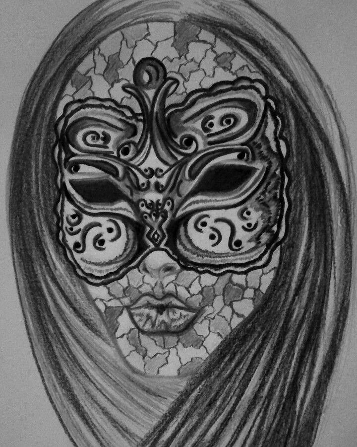 Crazy Masquerade!  Personal drawing, Barbara Scott