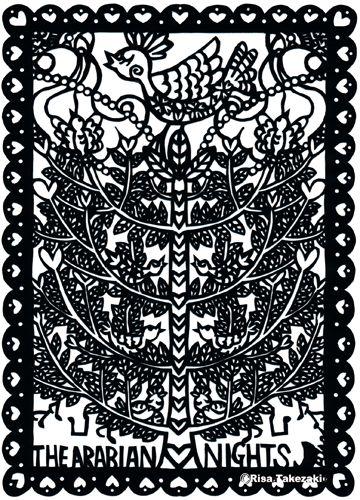 Paper cut work: The Arabian Nights #paper cut #the Arabian Nights #Japanese artist