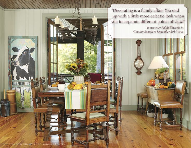 September Decorating Ideas Part - 27: U201cDecorating Is A Family Affair. You End Up With A Little More Eclectic Look