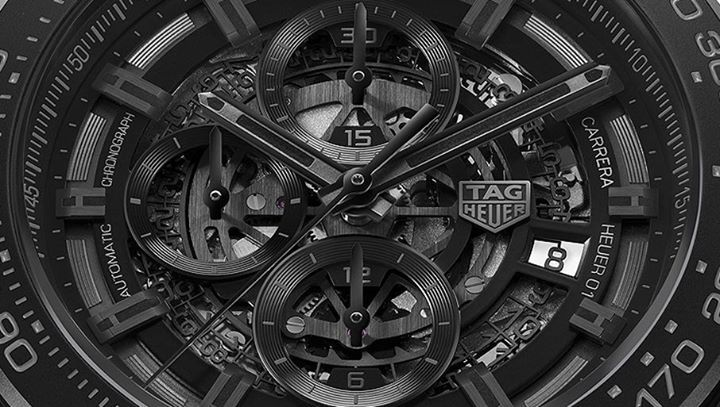 TAG Heuer's new Carrera Heuer-01 Full Black Matte Ceramic comes with a micro-blasted black ceramic case (45mm) and black ceramic bracelet. More details after the link: #dontcrackunderpressure http://www.watchtime.com/wristwatch-industry-news/watches/tag-heuer-introduces-new-heuer-01-chronograph-with-matte-black-ceramic-case/ #ElectronicsStore
