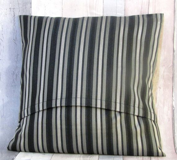 Sale Striped Black/Silver Cushion Cover, Throw Pillow, Accent Pillow, Couch and Sofa Cushion,Cushion Gift   Black/Silver Striped throw pillow cover that will liven up any r... #black #silver #etsyirelandteam