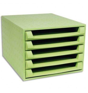 Module de classement vert anis en plastique recyclé pour ranger vos documents disponible sur Direct-Fournitures.fr