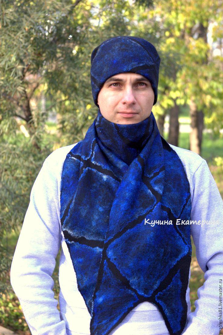 Купить Шарф мужской..валяный.. - шарф мужской, мужской шарф, шарф мужской валяный