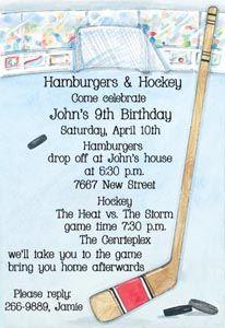 7 best gymnastics party invitations images on pinterest birthday hockey invitations hockey rink picture perfect stopboris Gallery