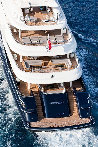 The Robb Report Best of the Best–winning megayacht, Numptia from Italian shipyard Rossi Navi.