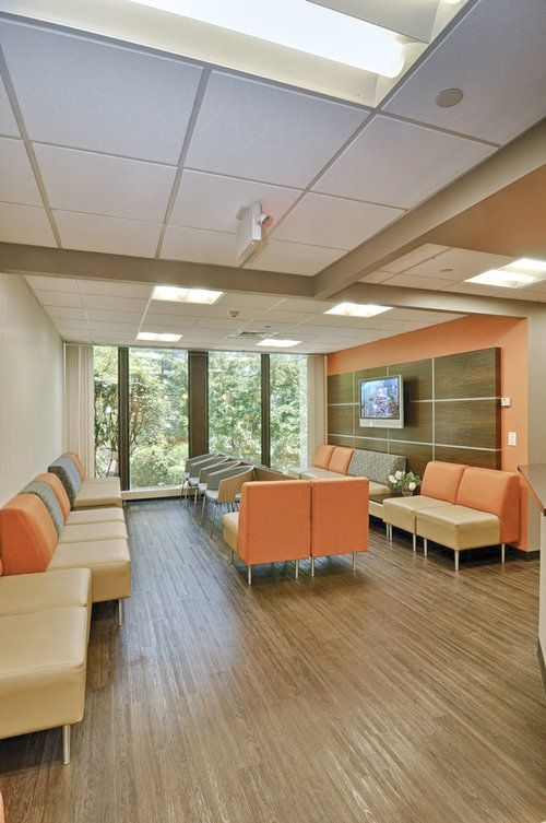 Dwell family doctors tobin parnes design nyc healthcare design waiting area