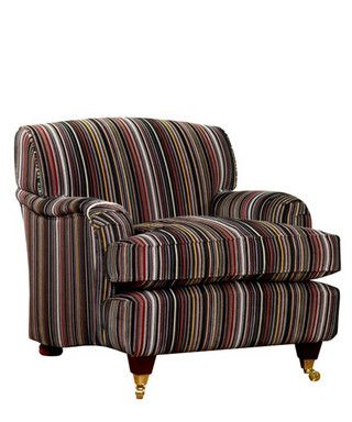 Featuring the bold stripes of iconic designer Paul Smith and the technical know-how of textile company Maharam, this comfortable armchair is perfect for sinking into after a long day's work.