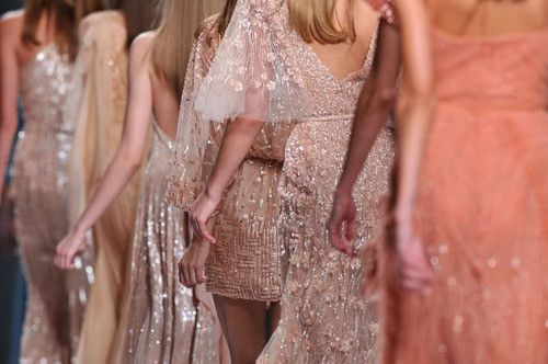 fashion sparkle: Pretty Dresses, Elie Saab, Pretty In Pink, Pastel Dresses, Bridesmaid Dresses, Fashion Week, Ellie Will Be, Saia Mini-Sequins, Sparkly Dresses