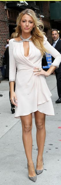 Blake Lively in Jenny Packham, Christian Louboutin pumps, and Lorraine Schwartz jewelry