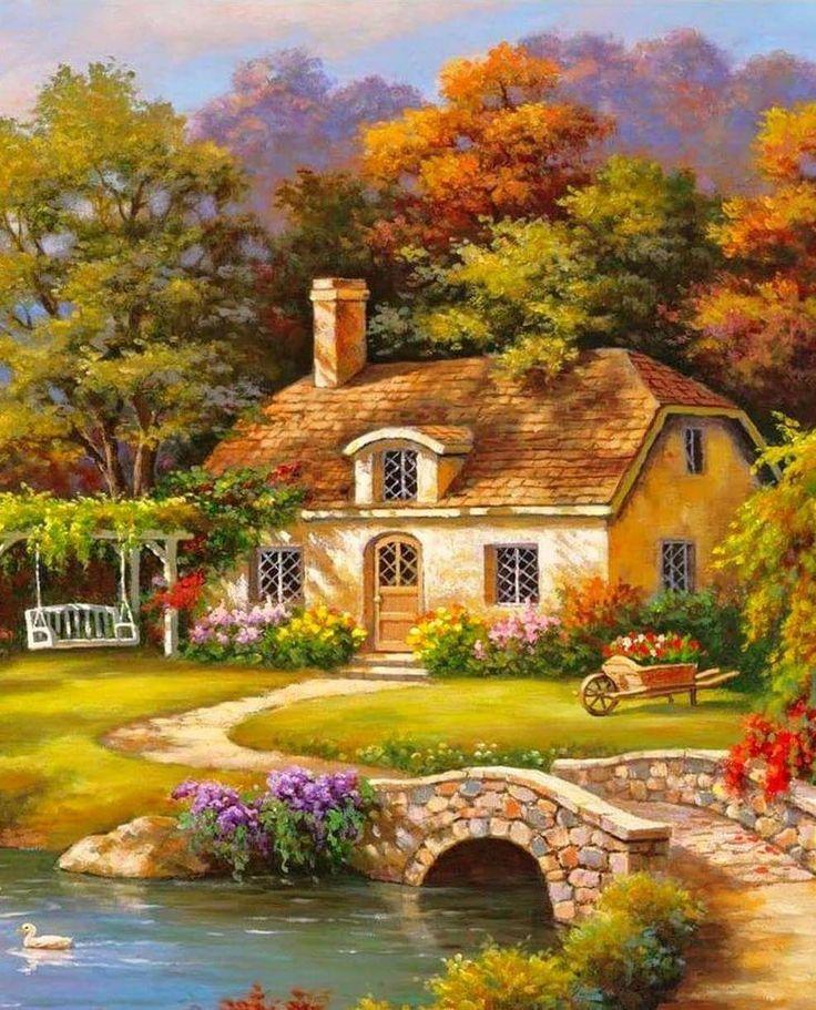 Casa de mis sueños – #casa #Cuadros de paisajes #de #Lugares hermosos #mis #Pai…