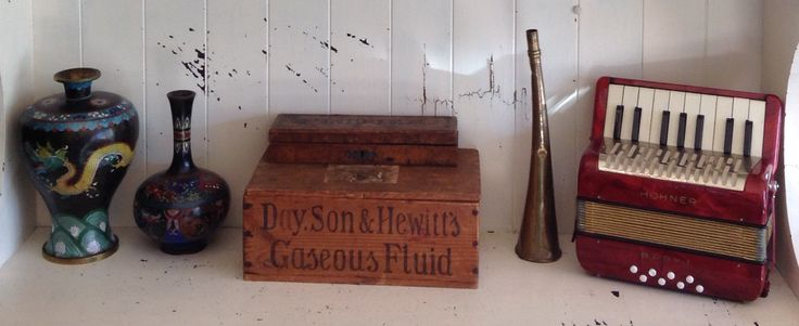 I love the stories that come with finding vintage and second-hand things. Nearly everything we have comes with memories of places and people. The antique Gaseous Fluid box is one of my favourite things! It's from one of my lovely sisters, and used to hold medicine for livestock.