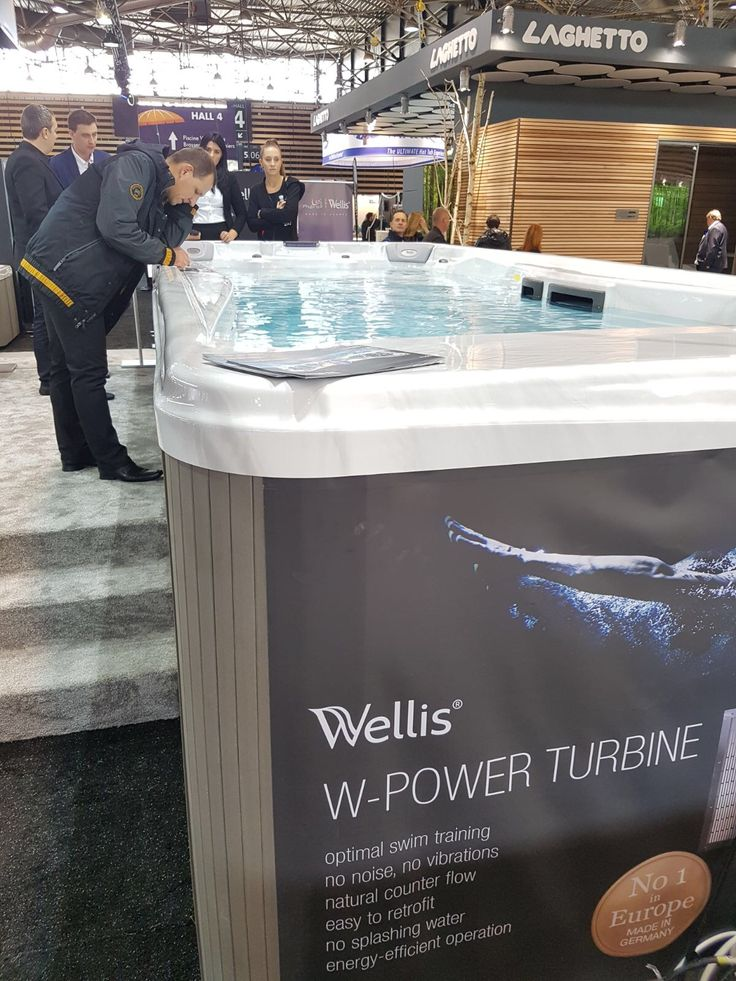 Wellis Swim Spa with W-Power Turbine sold at Spa Wars in Bishop's Stortford.