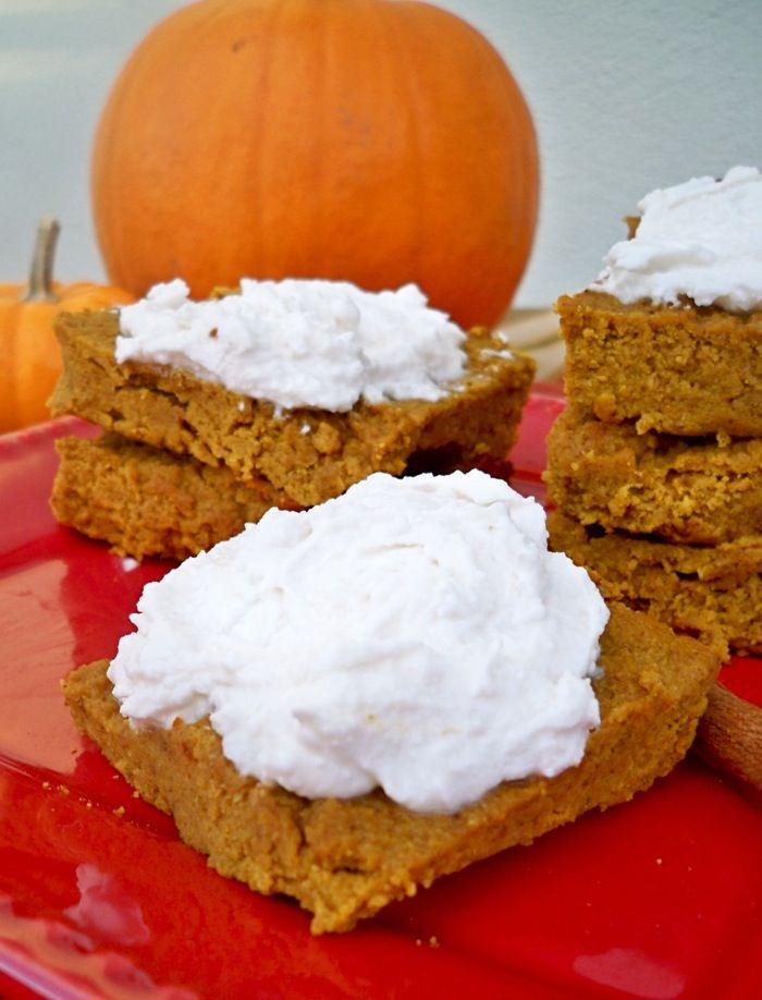 -Free Pumpkin Pie Bars with Creamy Frosting | Recipe | Pumpkin Bars ...