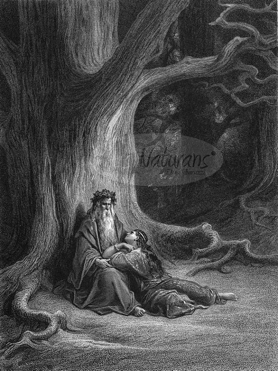Merlin and Vivien in the Forest by Paul Gustave by ArsNaturans, €25.00