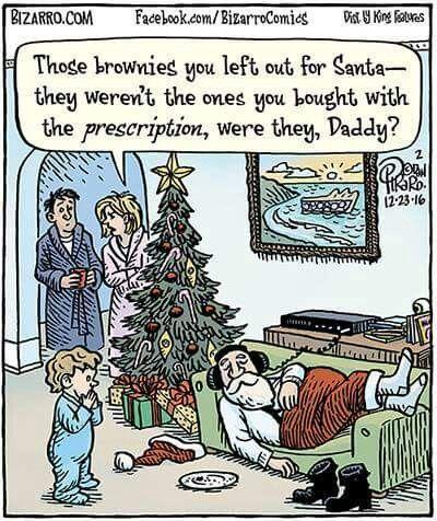 ☮ American Hippie Holiday ☮  Christmas .. Stoned Santa