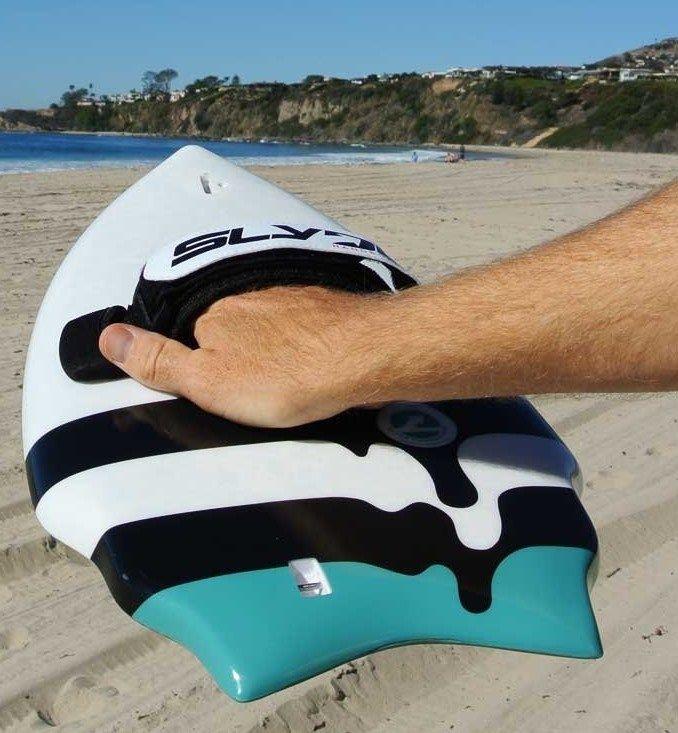 Racketeer Wedge Handboard for Bodysurfing with Gopro Attachment