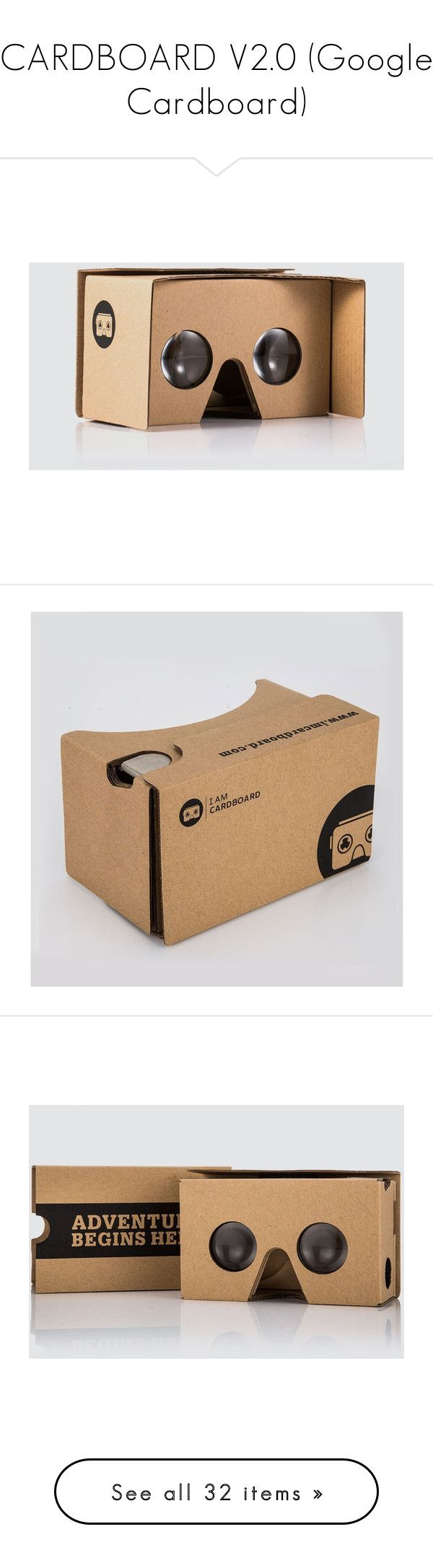 """CARDBOARD V2.0 (Google Cardboard)"" by hangar-knjiga ❤ liked on Polyvore featuring gaming, 360, vr, virtualreality and googlecardboard"