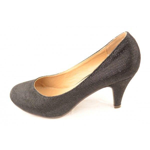 Zwart Glitter Avond Gala schoen AS007 Fashion Planet
