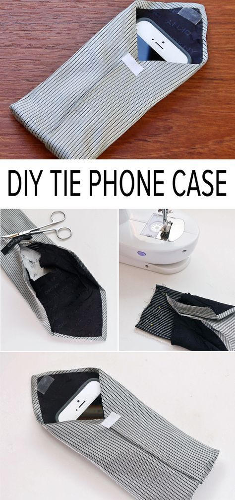 Turn an old tie into a phone case!