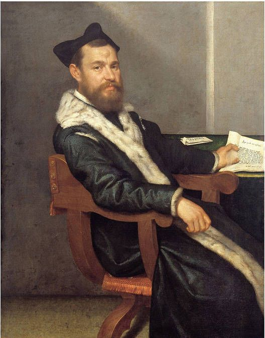 Portrait of a Doctor (The Magistrate, 1560 by Giovanni Battista Moroni (Italian c. 1520-1578)
