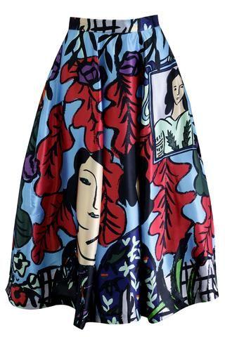 TRELISE COOPER Wild At Art Skirt Spring 2016 Designer Clothing Gallery