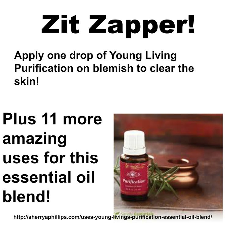 Young Living's Purification oil blend effectively banishes blemishes!  Distributor # 1492362 www.TheOilDropper.com