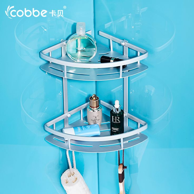 Double Layer Shower Caddy Shampoo Holder Wall Mounted Corner Shelf Bathroom Accessories Double Tier Shower Basket COBBE 3278 #Affiliate