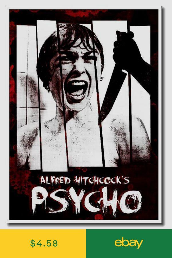 "Alfred Hitchcock Psycho 24/""x16/"" Fiber Silk Classic Horror Poster Wall Decoration"