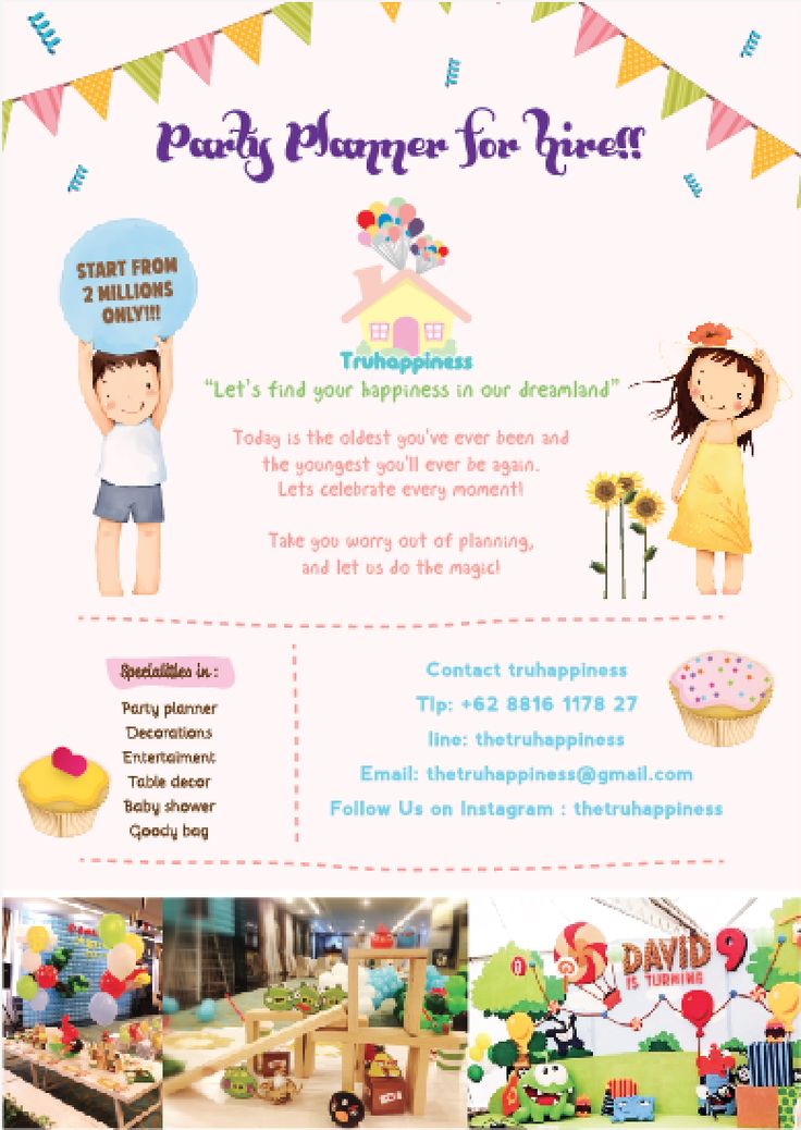 1000 Images About Party Planner Flyers On Pinterest