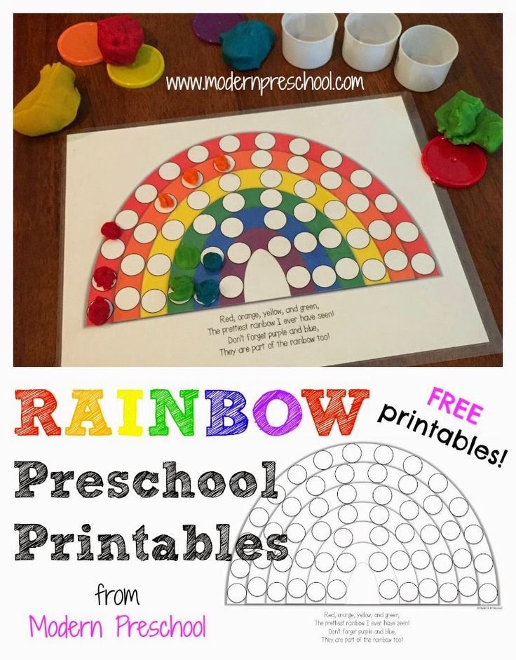 Modern Classroom Activities ~ Activity rainbow colors fill the pots of gold free