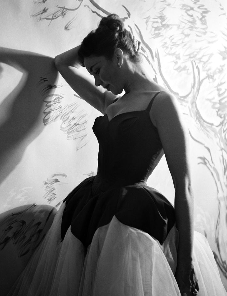 Jennifer Hones in a Charles James petal dress, 1952. | As pinned from the Marie-Claire Charles James fashion slideshow. #CharlesJames