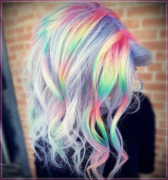 8 Regenbogen Frisuren Ihr Aussehen Farbe Geben Haar Styling Haar Streifen Regenbogenhaare