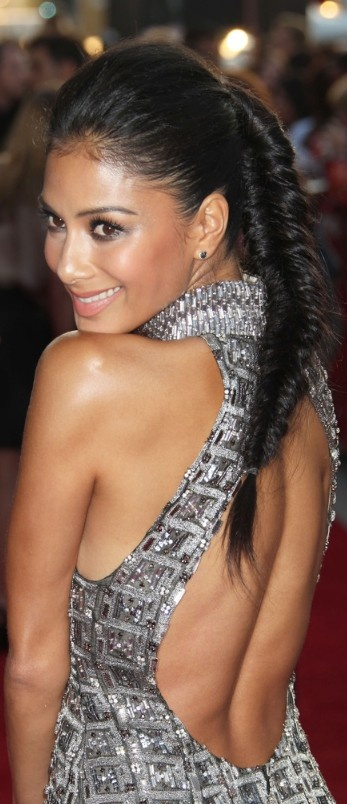 queue de cheval tressee Nicole Scherzinger