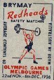 Weight Lifting - Australian Matchbox Labels