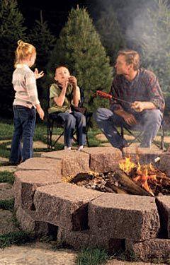 Fire pits. yesssssss: Fire Pits, Idea, Stones Fire Pit, Fire Rings, Backyard, Firepit, Diy, Families Handyman, Back Yard